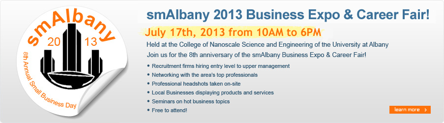 smAlbany 2010 Business Expo & Career Fair! July 27th, 2010 from 10:00AM-6:00PM